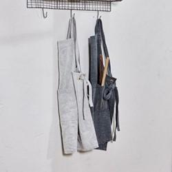 Abeto Canvas apron, 88 x 82.5cm, washed charcoal