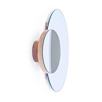 Eclipse Wall mirror, H45 x W55 x D10cm, oak/mirrored glass