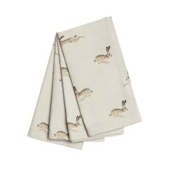 Hare Set of 4 napkins, 41 x 41cm