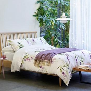 Ardingly Super king size duvet set, L260 x W220cm, lilac