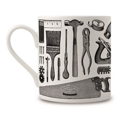 Diy Tools Mug, H9 x Dia 8cm, black/white