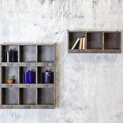 Imani Locker shelf - small, H29 x L70 x W21cm, dark green wood