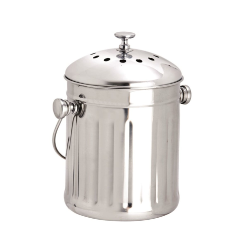 Mini compost pail, 2.25 litre, Stainless Steel