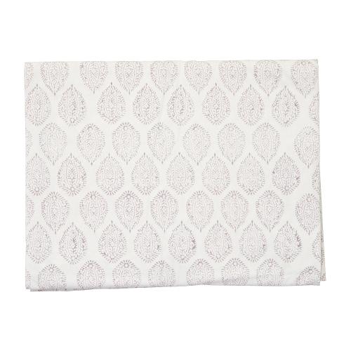 Leaf Tablecloth, 150 x 300cm, Grey Cotton