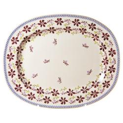 Clematis Oval platter, L44 x W35cm