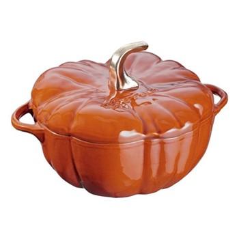 Pumpkin Round cocotte, 24cm, cinnamon