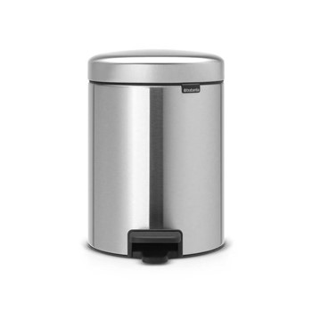 Pedal bin, 5 litre - H29.1 x D20.5cm, matt steel