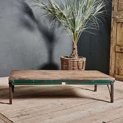 Ishan Folding dining & coffee table, 77 x 152.5 x 76cm, wood & iron