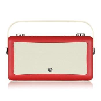 Hepburn Mk II DAB radio, H16.6 x W31.4 x D9.4cm, red