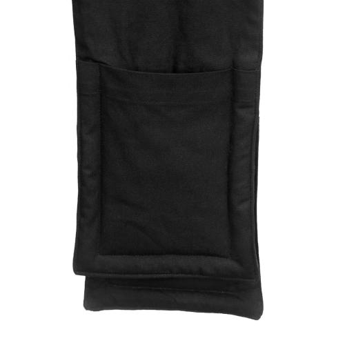 Pique Oven gloves, 22 x 100cm, Black