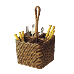 Rattan Deep carry for cutlery, 35cm