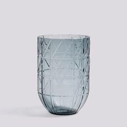 Colour Large glass vase, H19 x W13.5cm, blue
