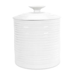 Ceramics Storage jar large, 16 x 16.5cm, White