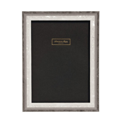 Studio Photograph Frame, H15 x W10cm, Grey Mother Of Pearl Marquetry