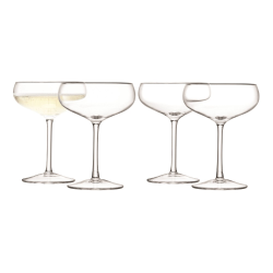 Wine Set of 4 champagne saucers, 215ml, clear