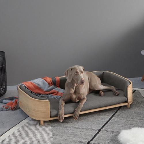 Kyali Dog sofa -  L/XL, H23 x W113 x D71cm, Natural