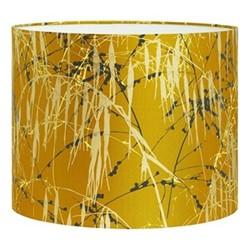 Three Grasses Drum lampshade, W31 x H24cm, turmeric/storm