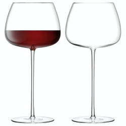 Wine Culture Pair of red wine balloon glasses, 590ml, clear