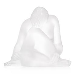 Reve Nude figurine, H6.4 x L6cm, clear