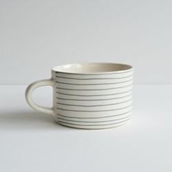 Horizontal Stripe Set of 6 mugs, H7 x W10.5cm, dove grey