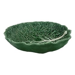 Cabbage Salad bowl, 40 x 38 x 10cm, green