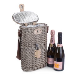 Insulated Carry basket - 2 Bottle, 26 x 15 x 37cm, antique wash