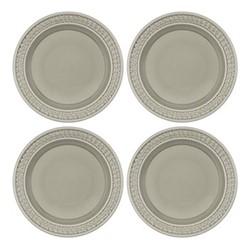 Botanic Garden Harmony Set of 4 plates, 20cm, stone