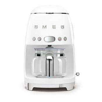 50's Retro Style Drip coffee machine, H33 x W15.5 x D33cm, white