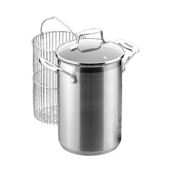 Impact Asparagus pot with insert, 4.5 litre - D16cm, stainless steel and glass