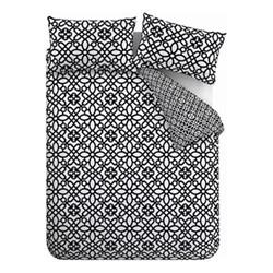 Medina Trellis Single duvet set, 135 x 200cm, black/white