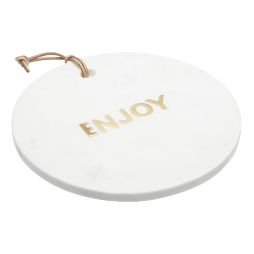Round marble cheese board, D26 x H2cm, White