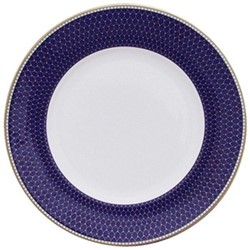 Antler Trellis Plate, 25.4cm, midnight blue and gold