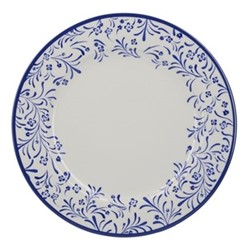 Henry Cole Dinner plate, H2 x W27 x L27cm, blue/white