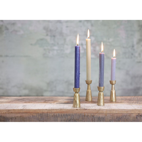 Jahi Candlestick - small, H9 x D3.5cm, brushed gold brass