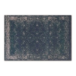 Yolanda Large faded persian jacquard rug, 160 x 230cm, petrol blue
