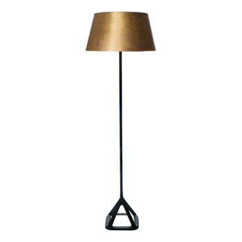 Base Floor lamp, H160 x W49.5 x L41.2cm, brushed brass