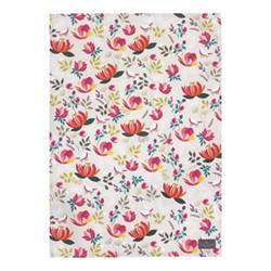 Peony - Repeat Tea towel, 44 x 65cm, grey