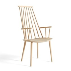 J110 Solid beech chair, W53 x D60 x H106cm, natural