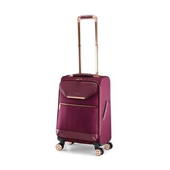 Albany Small 4 wheel trolley suitcase, L55 x W36 x D25cm, burgundy