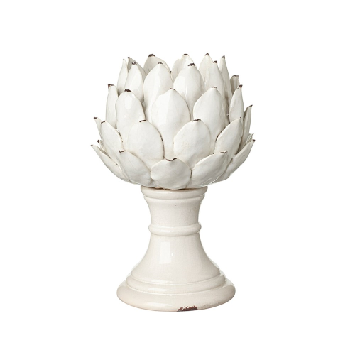 Cardoon Candle holder - large, D25 x H36cm, white