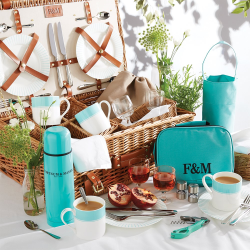 Piccadilly Stripe The Fortnum's 4 person hamper, H38 x W58 x D23cm
