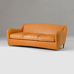 Balzac by Matthew Hilton 3 seater sofa, W218 x D102 x H80cm, utah russet leather
