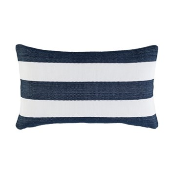 Fresh American - Catamaran Polypropylene indoor/outdoor cushion, L61 x W38cm, navy/white