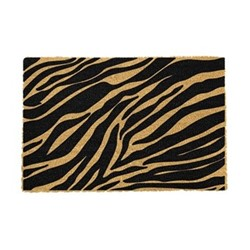 Zebra Print Doormat, 60 x 40cm, natural/black