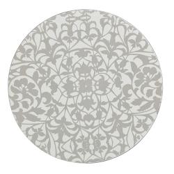 Monsoon - Filigree Set of 4 round coasters, 10.5cm, silver