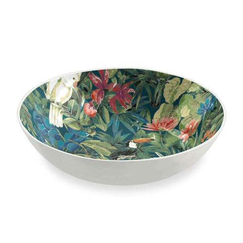 Lush Jungle Melamine bowl, 23cm, Green