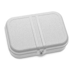 Pascal Large lunch box with separator, H6.2 x W16.6 x L23.2cm, organic grey