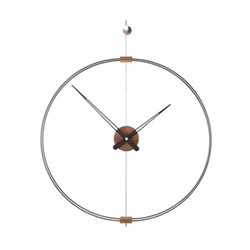 Mini Barcelona Wall hanging clock, D66cm, walnut