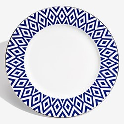 Aragon Charger plate, 33cm, midnight blue & white