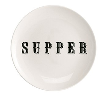 Supper Plate, Dia20cm, black/white